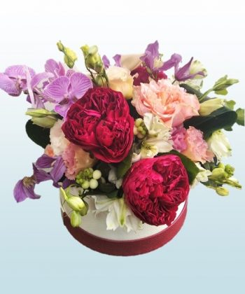 aranjament cutie flori
